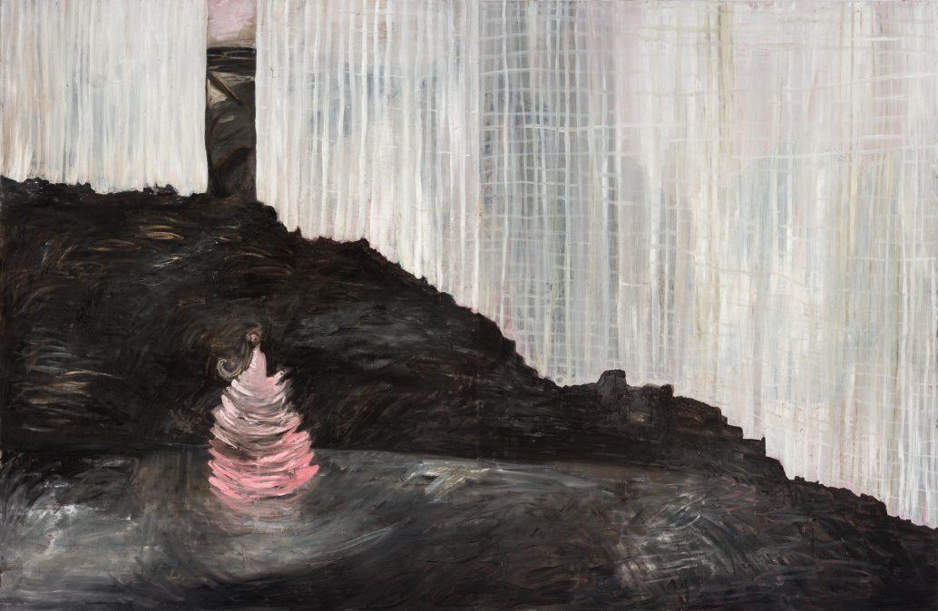 Susanne Pettersson Gallery: Karin Lind, in between peaks, oil on aluminium laminate, 2017
