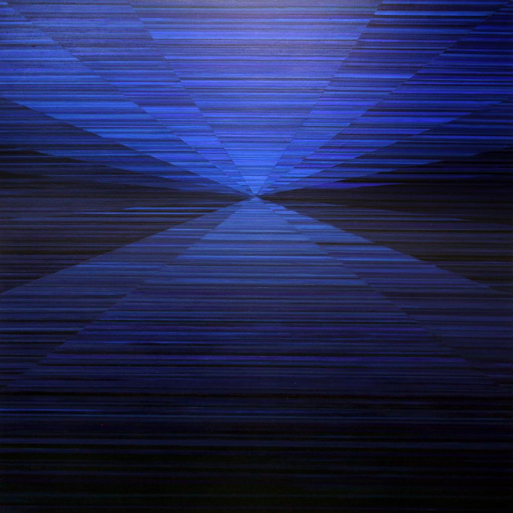 Magnus Alexandersson -Compass, oil on canvas, 180x180cm