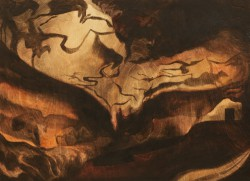 Mikelis Lapsa - Lascaux, 40x40 cm, acrylic on plywood, 2011