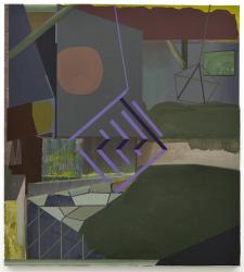 Mikelis Lapsa - Purple Cage, 62 x 56 cm, oil on canvas, 2014