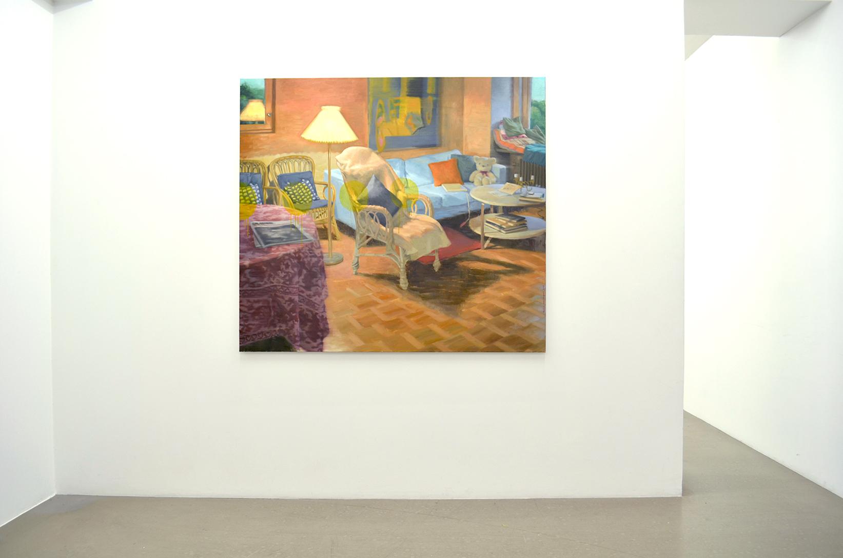 Sommarkväll i vardagsrummet, 153 x 172 cm