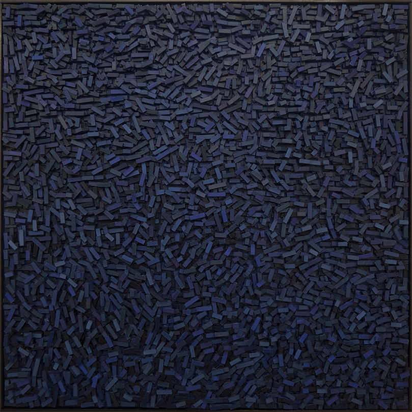 Magnus Alexandersson Geography V, Oil on canvas, relief, 100x100 cm 2018