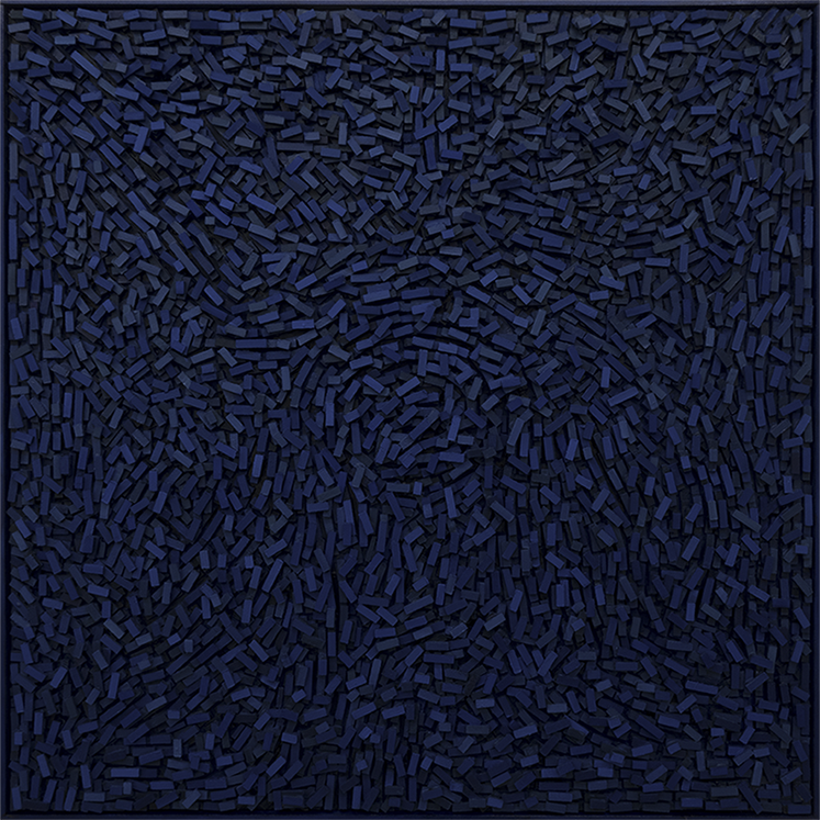 Magnus Alexandersson Geography III, oil on canvas, relief, 100x100 cm 2018