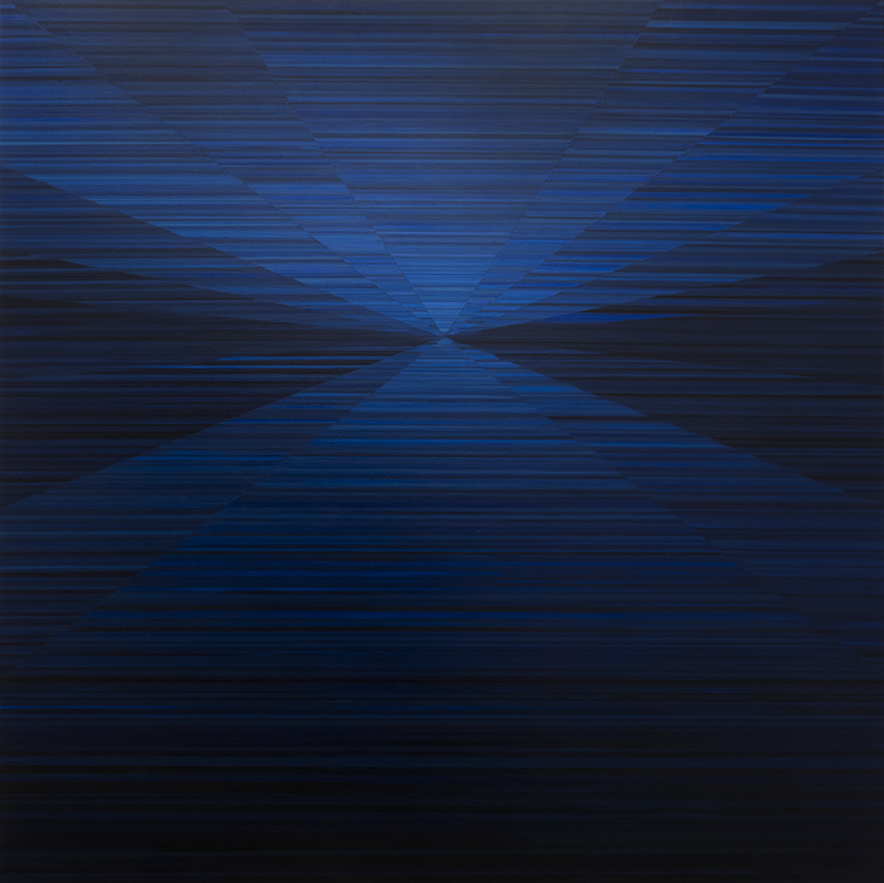 Magnus Alexandersson, Compass III. oil on canvas, 180x180 cm, 2018