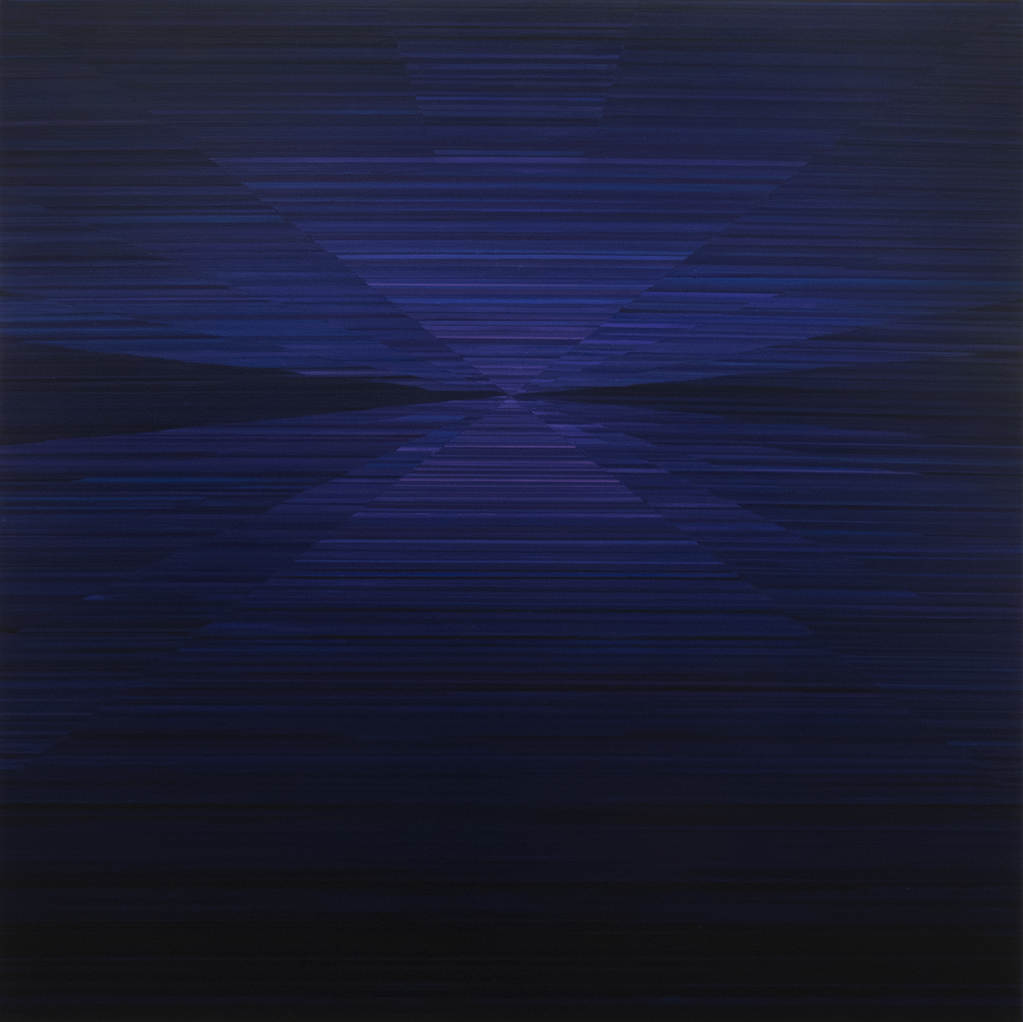Magnus Alexandersson, Compass IV. oil on canvas, 180x180 cm, 2018