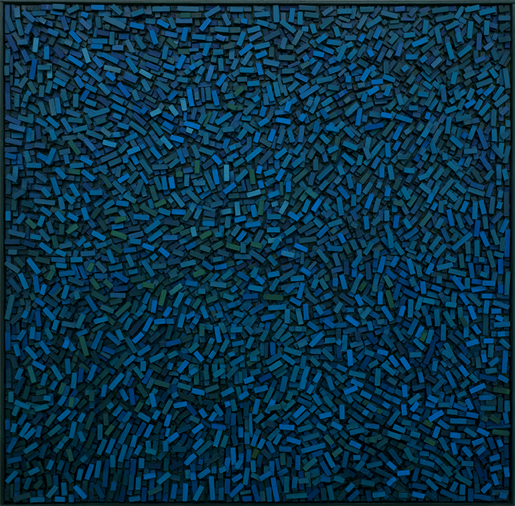 Magnus Alexandersson Geography I Oil on canvas, relief, 100x100 cm 2018