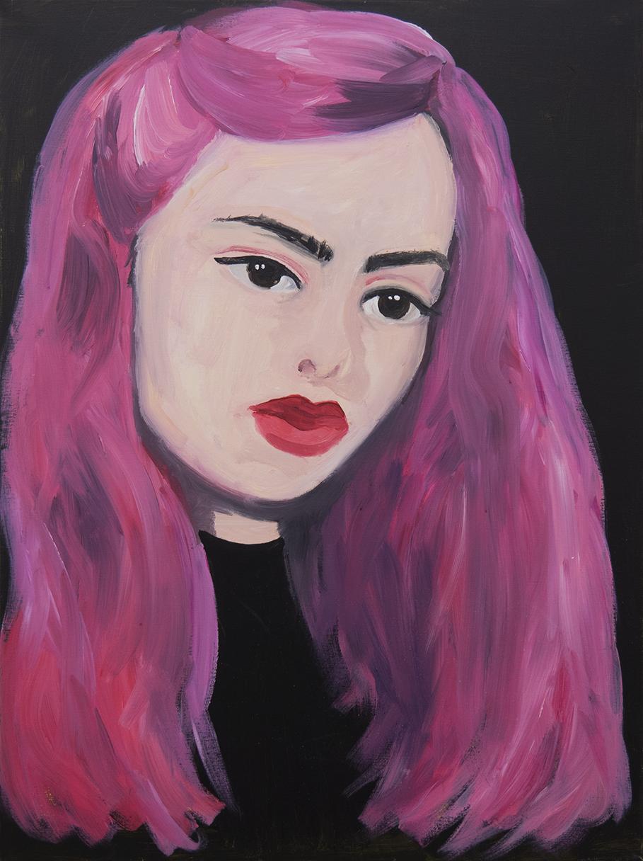 Marie Capaldi, Dreamer, acrylic on canvas, 80x60cm, 2018