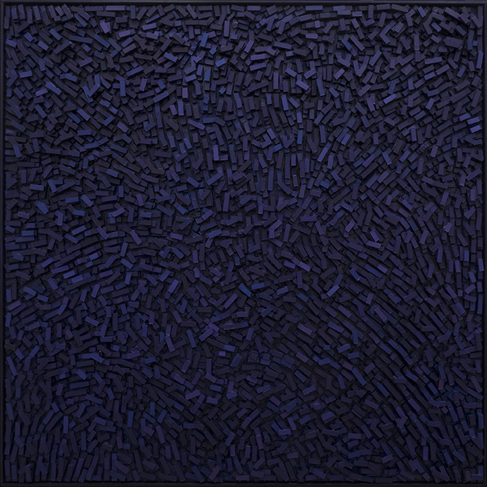 Magnus Alexandersson Geography VI Oil on canvas, relief, 100x100 cm 2018