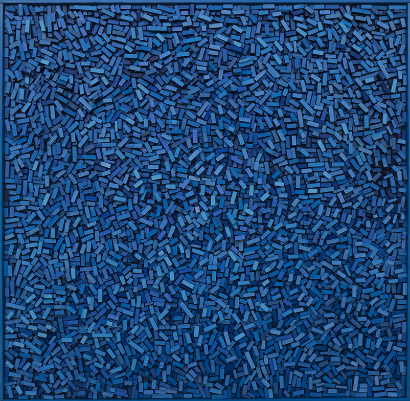 Magnus Alexandersson Geography IV Oil on canvas, relief, 100x100 cm 2018
