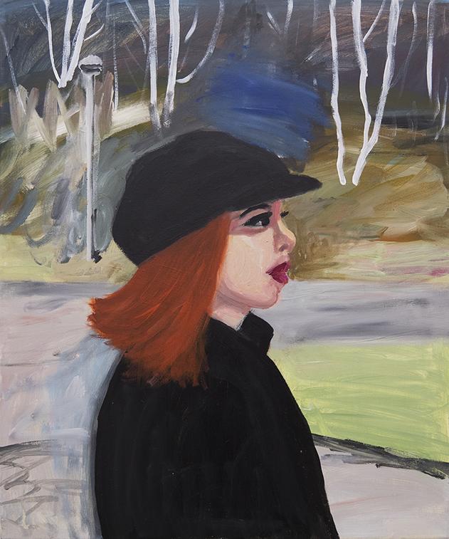 Marie Capaldi - Himalayabjörkar, acrylic on canvas, 60x50cm, 2018