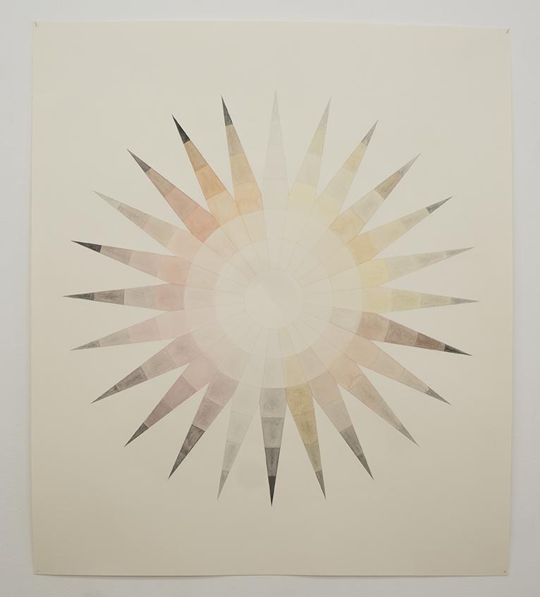 Therese Enström, Mars Star, gouache, akvarell, tusch, akryl, papper