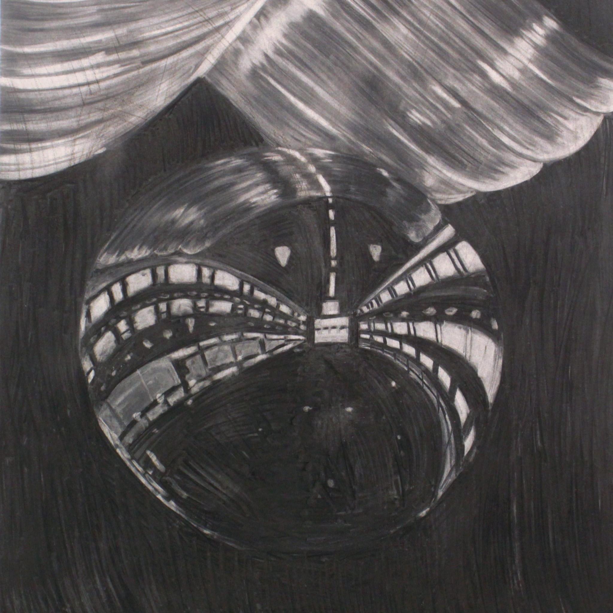 Hannaleena Heiska Structure III, 2018 charcoal on paper 111 x 104 cm