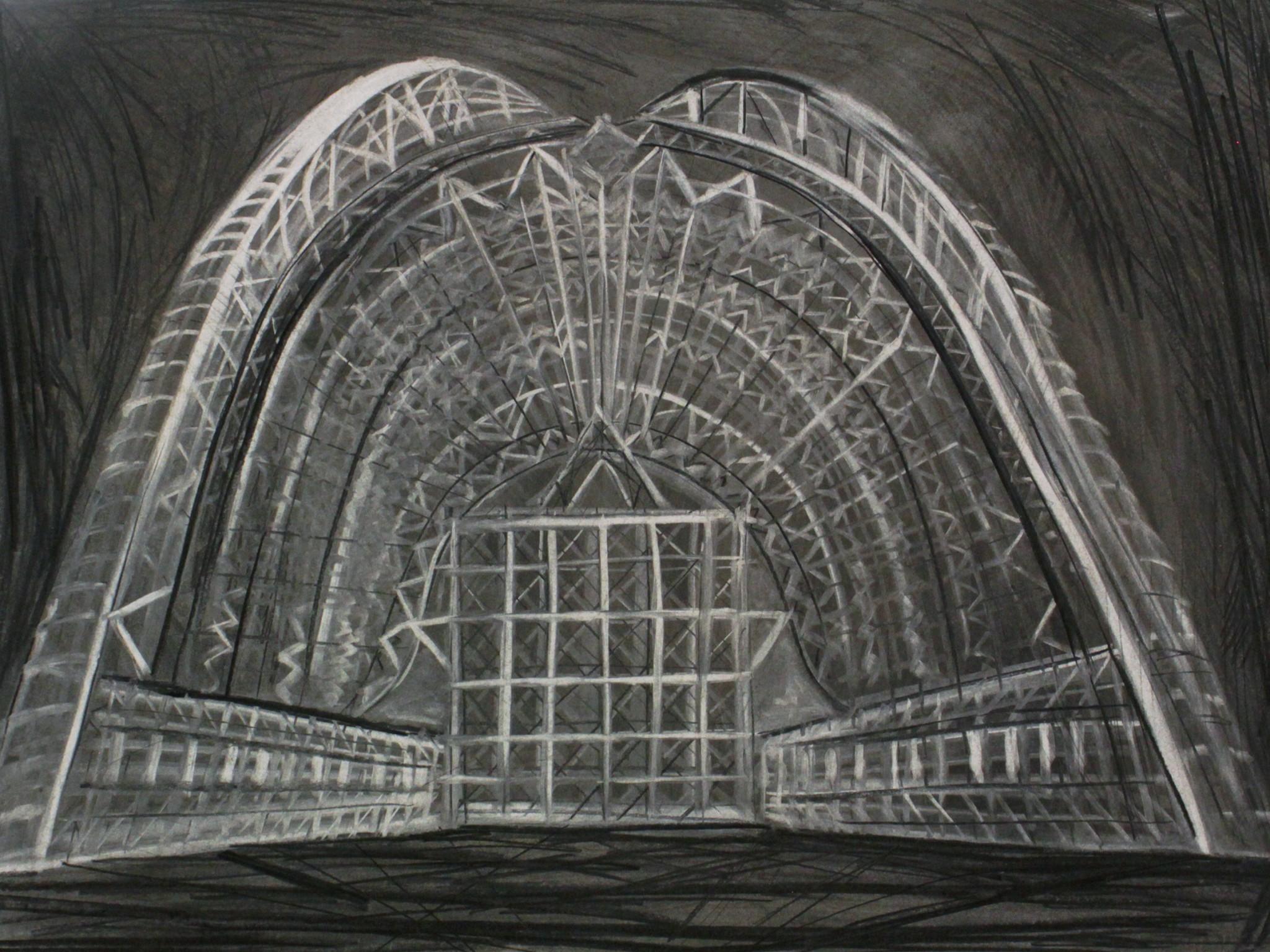 Hannaleena Heiska Structure IV, 2018 charcoal on paper 70 x 96 cm