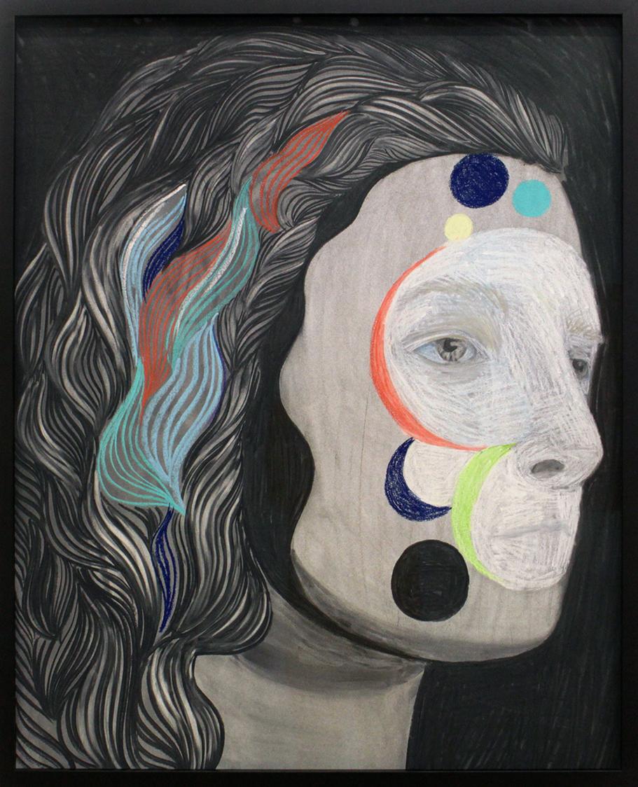 Hannaleena Heiska Camouflage XX, 2018 charcoal on paper 94 x 76,5 cm