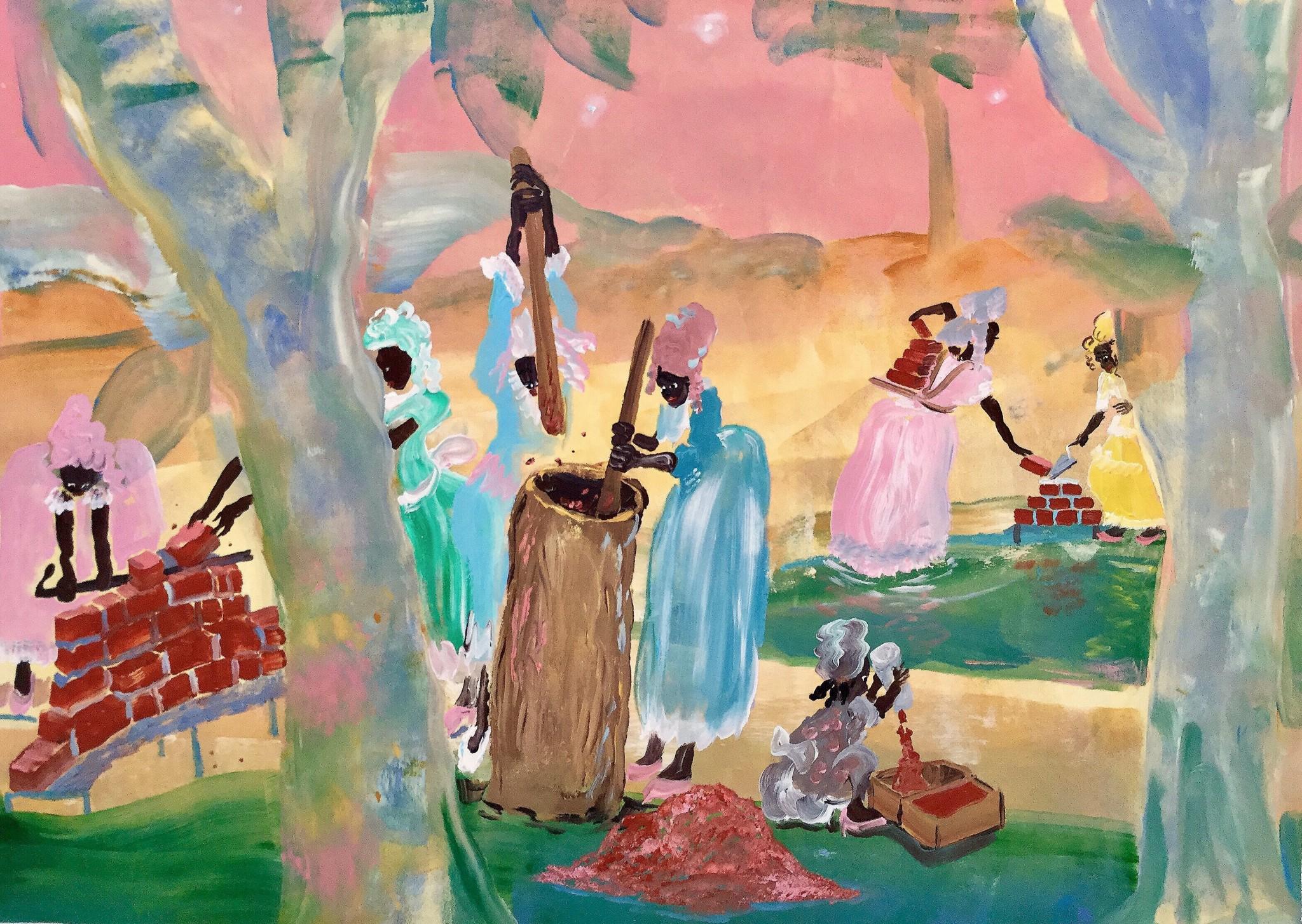 Dreams of Herero 75x100 cm akryl på duk, 2018