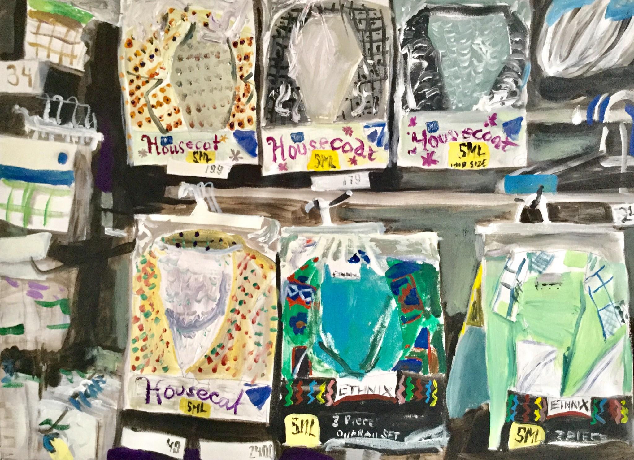Dressings for the Housekeepers 75x100 cm akryl på duk, 2018