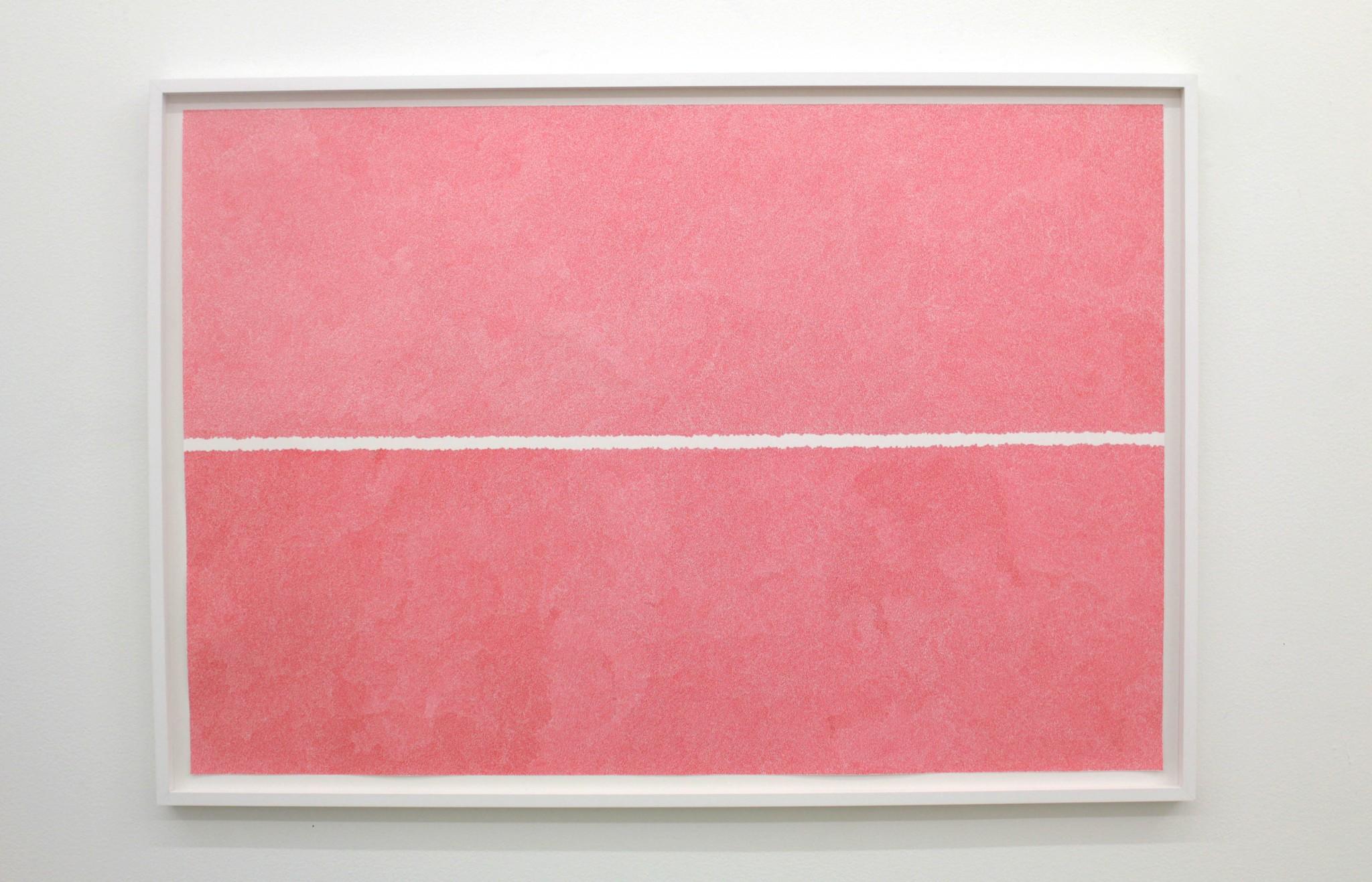 Between-two-lines-röd-75x110cm-2018-Material-Tusch-på-papper