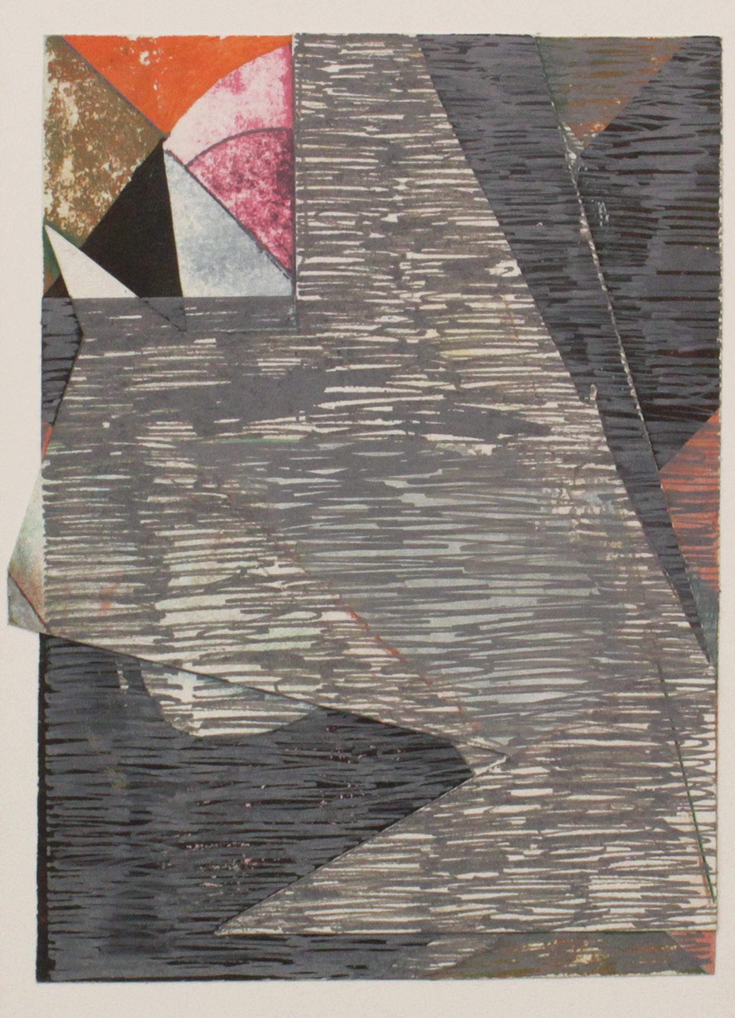 Utan titel kollage, gouache på kartong, 29 x 21 cm, 2019
