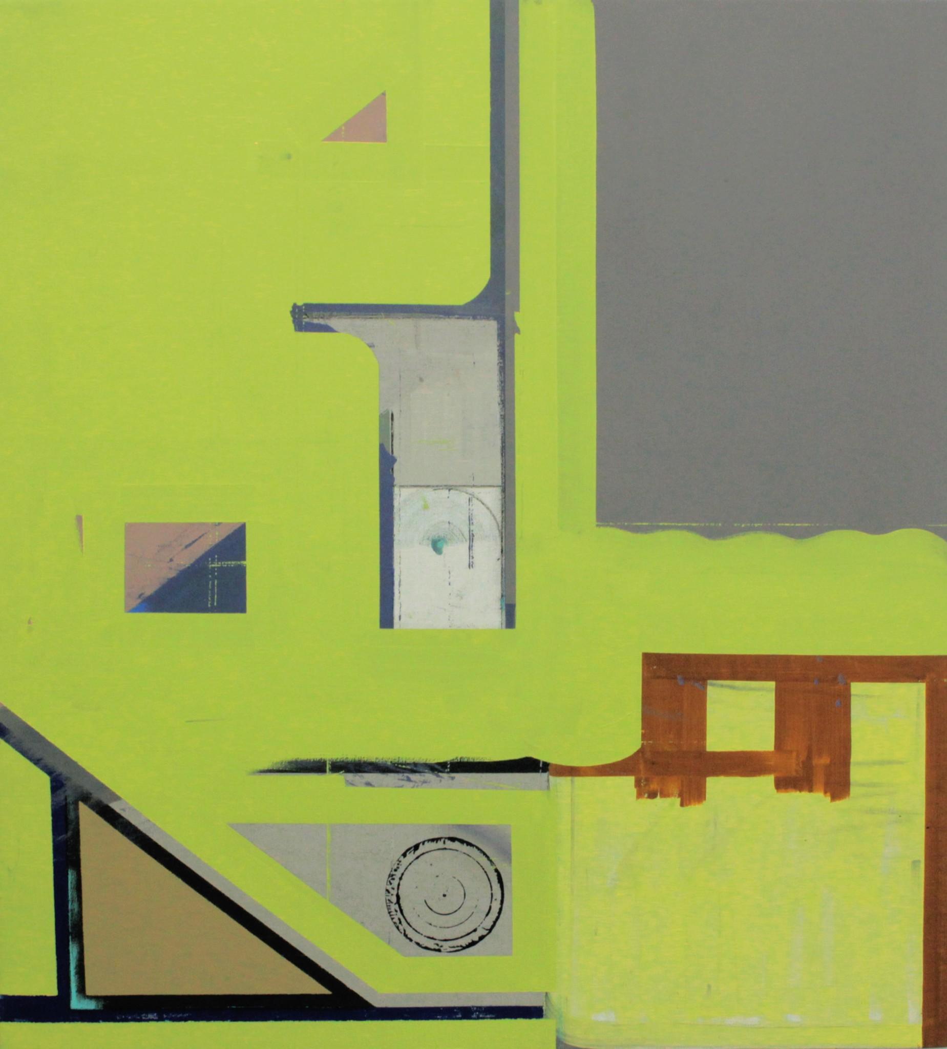 Utan titel olja på duk, 90 x 82 cm, 2019