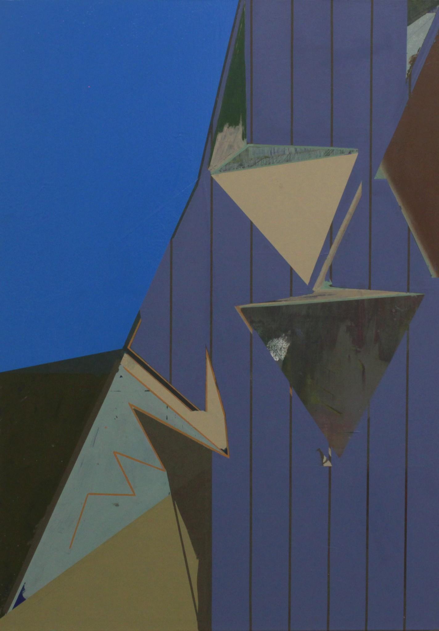 Utan titel olja på pannå, furu list, 87,5 x 61,5 cm, 2019