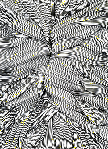 Ur-serien-Känslan-av-mörker-En-målargubbes-hårbotten-tusch-på-papper-185x135cm-2010